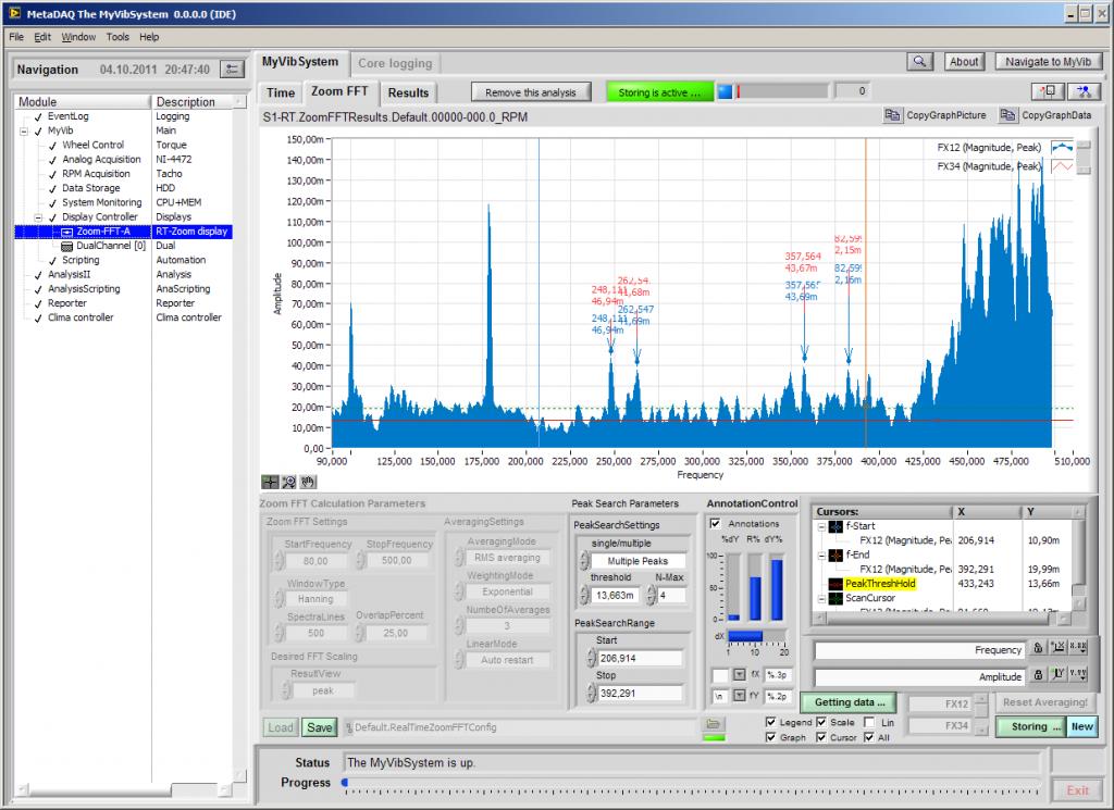MetaDAQ Lösungen: MyVibSystem