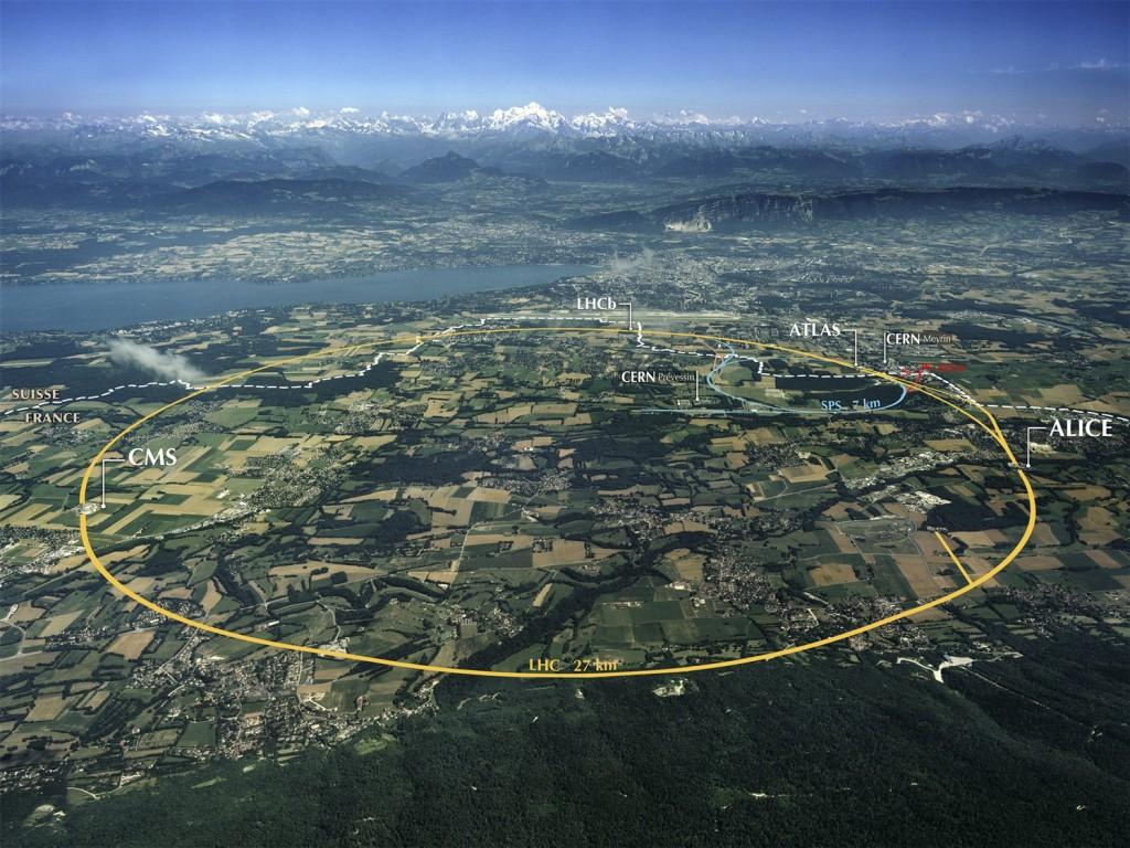 LHC Ansicht aus der Luft. (C) CERN
